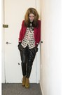 Primark-blazer-bik-bok-shirt-harem-galstar-pants-gift-heels