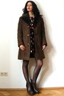 Brown-vintage-coat-black-anna-sui-dress-dark-brown-kurt-geiger-clogs
