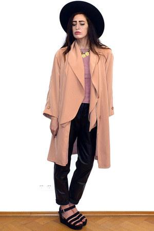 light pink vintage coat