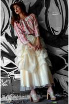 ivory vintage skirt