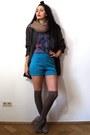 Tan-asos-boots-gray-oversize-linen-vintage-blazer