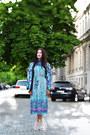 Silver-sandals-lagoa-shoes-aquamarine-vintage-sora-dress