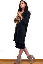 dark green vintage dress