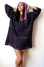 Deep-purple-vintage-dress-amethyst-flea-market-scarf
