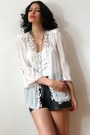 Ivory-vintage-jacket-dark-gray-vintage-shorts