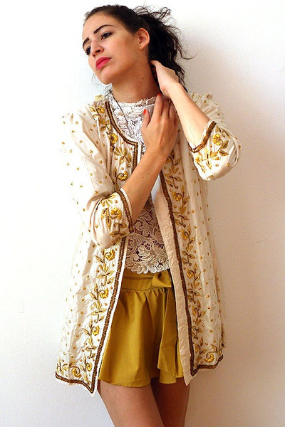 cream vintage from Ebay jacket - mustard wholesale shorts