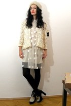 kimono lace vintage jacket - asos boots - Stella McCartney dress