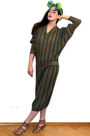 army green Missoni dress