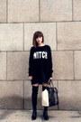 Black-zara-boots-black-dress-sweater-h-m-sweater-eggshell-leather-zara-bag