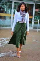 thrifted skirt - H&M scarf - Call it Spring sandals - Jeo Fresh top
