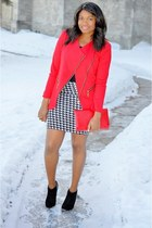 tidebuy blazer - Old Navy boots - thrifted purse - Urban Outfitters skirt