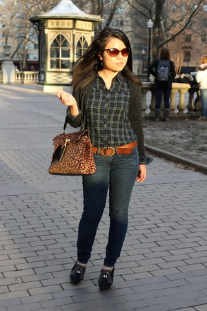 Aldo bag - Payless shoes - Gap jeans - banana republic shirt - Aldo sunglasses