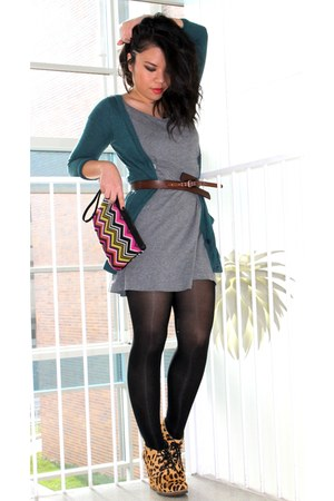 shoemint shoes - Forever 21 dress - missoni for target bag - Gap belt