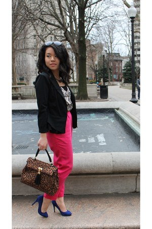 H&M pants - banana republic blazer - Forever 21 top - Aldo pumps