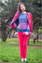 Jcrew jacket - JCrew sweater - JCrew bag - rag & bone panties
