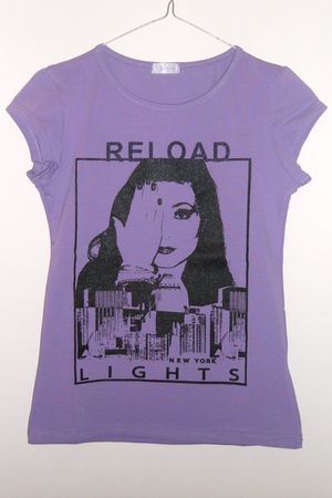 purple Reload t-shirt