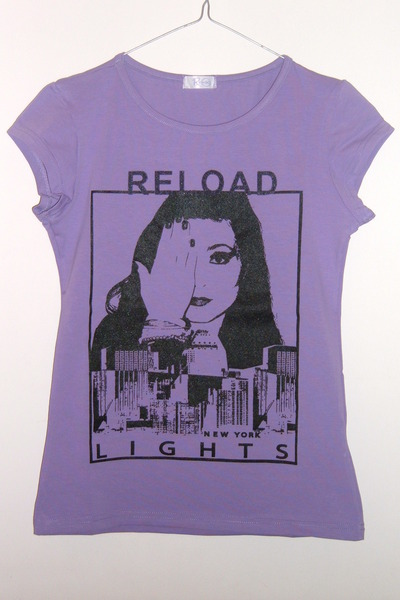 purple Reload t-shirt