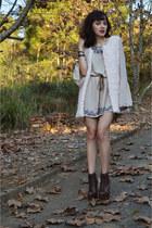 leather Parô boots - boho Gripa dress - faux fur N Fashion vest