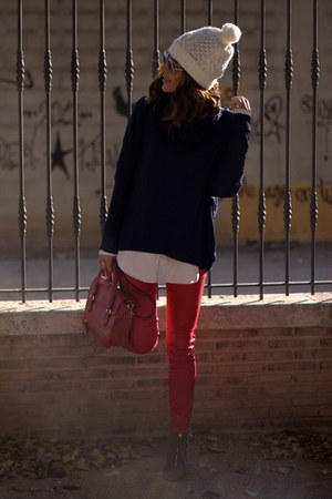 zara jersey sweater - chic and chic pantalón leggings