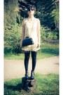 Black-studded-litas-boots-ivory-leaves-pattern-asos-dress-black-skulls-purse