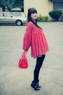 Red-polka-dotted-ebay-dress-red-candy-bag-ebay-bag