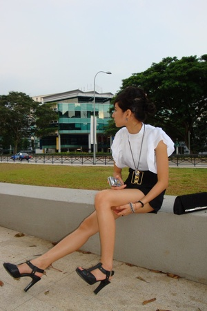 blouse - City Plaza shorts - Charles & Keith shoes - purse
