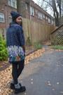 Black-target-hat-black-american-apparel-leggings-blue-thrifted-shirt