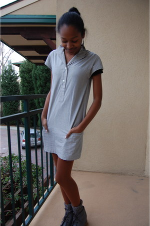 gray Urban Outfitters dress - charcoal gray wool American Apparel socks - heathe