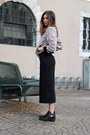 black H&M boots - black OnandOn wear dress - light pink OnandOn wear jacket