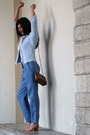 Sky-blue-anneclaire-jacket-tawny-ghibli-bag-sky-blue-hache-pants