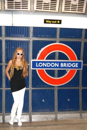 white Karen Milen jeans - silver c&a boots - black Perera t-shirt