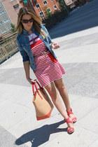 Mango dress - Mango jacket - Zara bag - Ralph Lauren sunglasses
