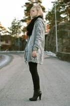 black heels Jessica Simpson shoes - gray parka Vero Moda jacket