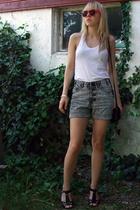 Bershka sunglasses - AA top - Secondhand shorts - Bianco shoes