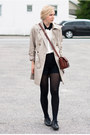 Gina-tricot-coat-secondhand-bag-zara-blouse