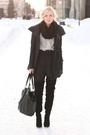 Blouse-coat-shorts-shoes-scarf-purse
