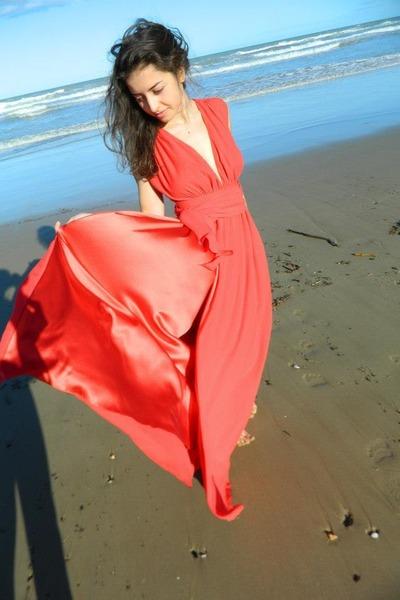 red confezioni valentina dress