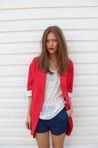 red Zara blazer