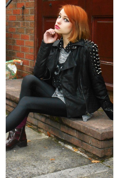 Daisy Street jacket - Topshop boots - Primark shirt