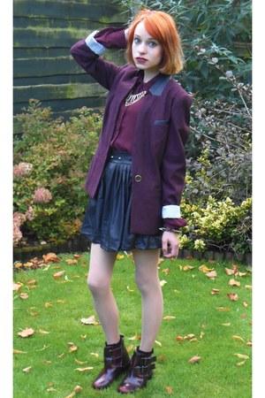 Primark blazer - Topshop boots - Primark shirt - hearts & bows skirt