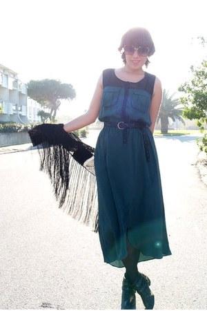 Zara boots - Urban Outfitters dress - Topshop jacket - Massimo Dutti belt
