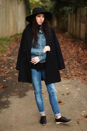 fedora H&M hat - Mango jeans