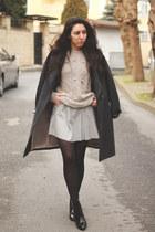 H&M coat - Zara boots - Mango skirt