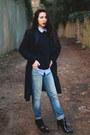 Striped-mango-coat-boyfriend-jeans-mango-jeans-mango-sweater