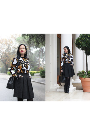 black Kenzo sweater - black lanvin boots - black Chanel bag