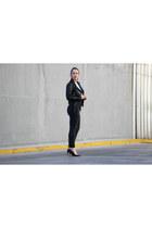 black H&M jeans - black Christian Louboutin heels