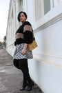 Black-chanel-boots-black-northland-vicolo-jacket-nude-chanel-bag