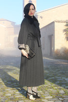 black Alberta Ferretti bag - gray Miss Twidd coat - black Marni sandals