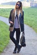 black Dr Martens boots - black H&M jeans - black Stradivarius jacket