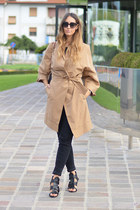 tan trench Loops jacket - Givenchy bag - black christian dior sunglasses